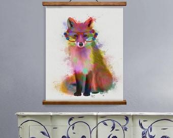 Fox animal wall art - Fox 2 Print - Fox print art Fox nursery Woodland fox art Fox nursery decor Fox art Fox print Fox nursery art UK seller