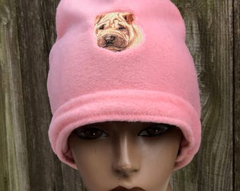 Shar Pei Fleece Beanie Hat