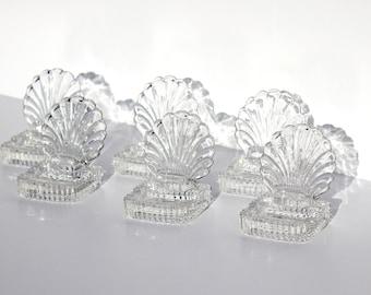 Glass Seashell Placecard Holders | Wedding Placeholders | Wedding Beach Decor