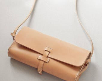 """leather shoulder bag type """"mimi"""" hand made"""