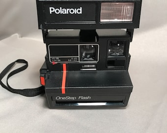 Polaroid OneStep Flash Red Stripe Instant 600 Film Camera