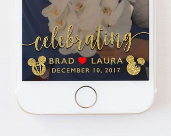 Disney Wedding Snapchat Disney Filter Wedding Snapchat Disney Geofilter Mickey Minnie Wedding Disney Filter Mickey Minnie Glitter Geofilter