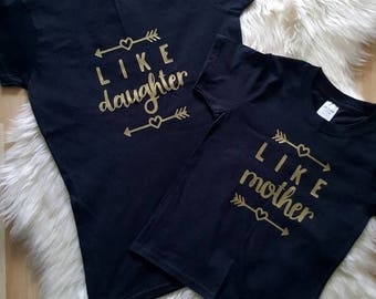 Like Mother Like Daughter t-shirt set, mommy and me