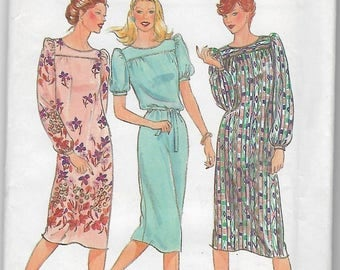 80s Butterick 3787 Misses Dresses and Belt Size C 16-18-20 Uncut Fast and Easy