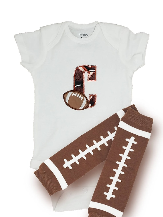 Personalized baby shower gifts baby football leg warmers like this item negle Image collections