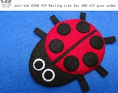 Hand Sewn wool Felt Ladybird for Flannel Boards and Play Mats
