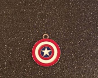 Captain America shield charm, Avengers charm