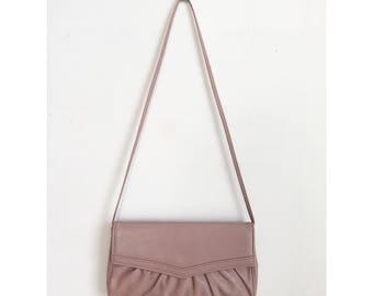 Vintage Pink Purse, Vintage Pink Bag, 80s Purse, Dusty Pink Purse, Vintage Shoulder Bag