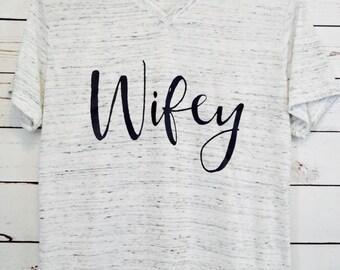Wifey White Marble Shirt, Bride Shirt, Wifey shirt, Bride-to-Be