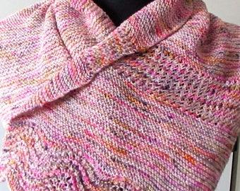 Knitting Pattern for Feather and Fan Lace Scarf, Mesh Stripes, Wavy, Asymmetrical, Modern, Sock Yarn, PDF Digital Download, Fandom Scarf