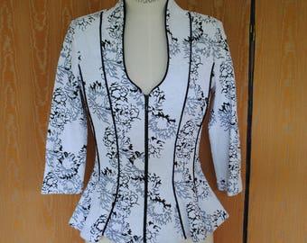 Jacket - spencer ceremony-black and white - 1990
