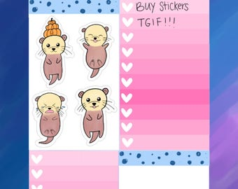 Otter Planner Stickers| Happy| Mood Tracker| Sad Day| Happy Day| Otterly Adorable Planner Stickers (O04)