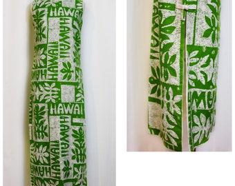 Polynesian Bazaar Hawaii Print Maxi Dress