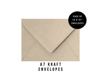 5x7 Kraft Envelopes