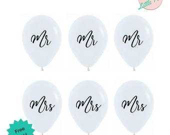Mr and Mrs White & Black Balloons Bachelorette Wedding Pride Party Decorations