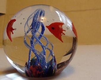swimming  fish paperweight
