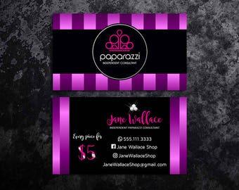 Paparazzi Business Cards Paparazzi Jewelry Paparazzi Accessories Paparazzi Consultant Black and Purple Satin Purple Glitter Business Cards