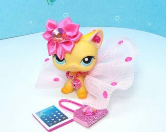 Littlest Pet Shop LPS custom clothes outfit accessories lot * cat not included