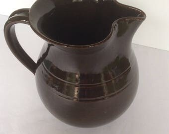 Vintage Handmade Pottery Pitcher From Jugtown Ware, NC