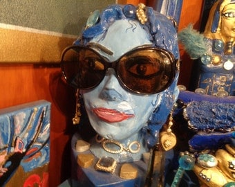 Sun Glasses vintage/90s/Style near Dior or Chanel style/Spectacular and also protection for high mountain!