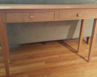 Shaker sofa console 2 drawer table