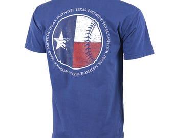 State of Mine: Texas Fastpitch Short Sleeve T-shirt, Softball Shirts, Softball Gifts, TX Softball - Free Shipping!