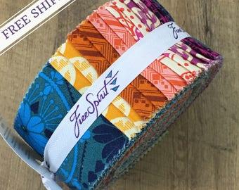 "True Colors, Anna Maria Horner, Free Spirit Fabrics, Jelly Roll, 2.5"" Strips(100% Cotton Precut Quilting Fabric)"