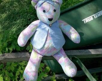 Granny's Purple Paisley Bear