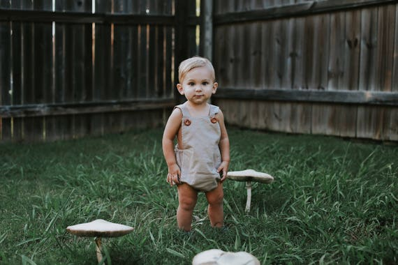 Size 2T Bubble Romper, Vintage Inspired Romper, Retro Baby Romper, Baby Playsuit, Toddler Fall Outfit, Fall Baby Shower, Baby Boy Romper Set