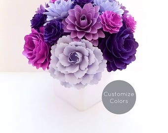 Paper Flower Arrangement | Custom Colors | Birthday Gift | Gifts for her | Floral Arrangement | Housewarming Gift |Christmas Gifts