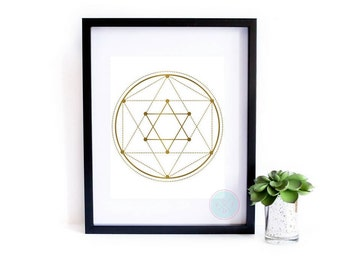 PRINTABLE Art Faux Gold Art Sacred Geometry Yoga Abstract Printable Poster Print Geometric Wall Art Yoga Wall Art Geometric Wall Art