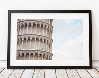 Leaning Tower, Pisa Photography, Italian Landmark, Italy Print, Italy Architecture, Large Travel Print, Pisa Photography, Travel Nursery