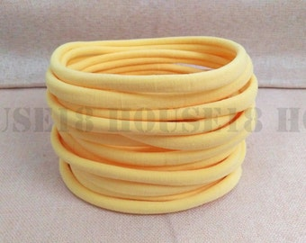 Nylon Headband Yellow Headband Bulk Headband One Size Fits Most Stretchy Skinny Soft DIY Baby Newborn Infant Headband Wholesale