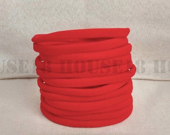 Nylon Headband Red Headband Bulk Headband One Size Fits Most Stretchy Skinny Soft DIY Baby Newborn Infant Headband Wholesale