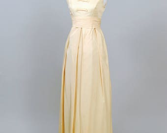 1960 Vintage Emma Domb Buttercream Vintage Wedding Dress