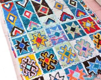 Colorful cotton rug 125 x 205cm / 49 x 81inches (unique !)