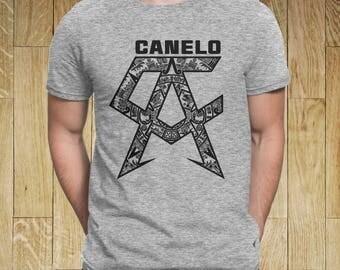SAUL CANELO ALVAREZ Aztec Calendar Boxing Men T-Shirt Grey