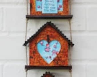 Triple House Hanging MDF Kit - Home Decor