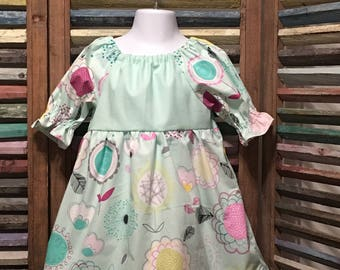 Girls dress, Girls peasant dress, Little girls dress, Toddler dress, Boho girl dress, Size 2, Girls spring or summer dress, #224