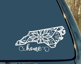 Mandala Decal, North Carolina Decal, State Decal, Car Decal, Laptop Sticker, Mandala Sticker, Cup, Home, Woman Gift, Man Gift, Girl Gift