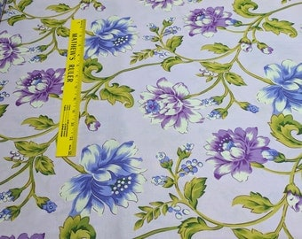 Glorious Garden-Rose Hip-Lilac Cotton Fabric from Free Spirit