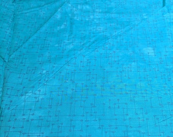Riverwood Collection Underground Blues-Dotted Squares-Light Blue Cotton Fabric from Troy