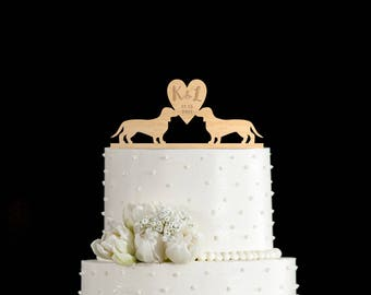 Dachshund cake topper,dachshund wedding cake topper,dachshund wedding cake,Dachshund cake,Dachshund cake topper Wedding,Dachshund cakes,6877