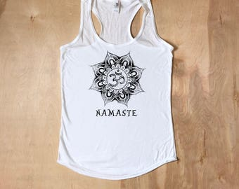 Namaste, Namaste Shirt, Yoga Shirt, Yoga Tank, Workout Apparel, Namaste Tank, Namaste Tshirt, Gym Shirt, Yoga, Gifts For Her, Fitness Shirt