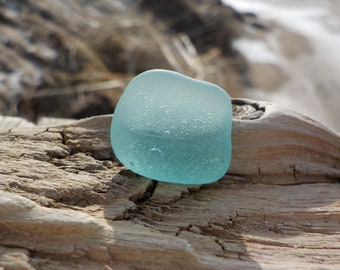 "Genuine Perfectly smoothed flawless Light blue, green Sea Glass piece- Size-0.7""-Slightly curved-Rare Sea Glass-Pendant size Sea Glass#J202#"