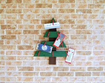 Christmas Tree card holder made from reclaimed wood - Christmas card display, Christmas decor, home decor, holiday house decor