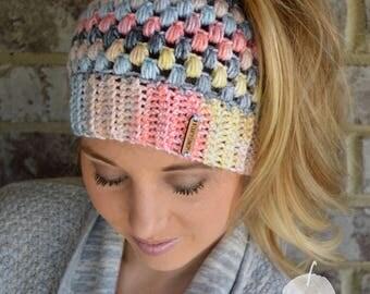 Crochet Messy Bun Beanie, Messy Bun Beanie, Top Knot Beanie, Mom Bun Beanie, Ponytail Beanie, Messy Bun Hat, Mom Bun Hat, Ponytail Hat