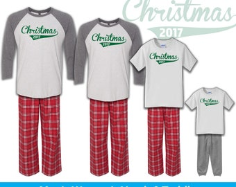 Christmas 2017 Pajamas, Family Christmas Pajamas, Personalized Pajamas, Infant Toddler Youth Christmas Pajamas, Holiday Pajamas