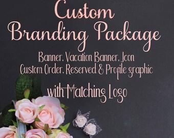 Custom Branding Package, Branding Design, Branding Logo, Brand Design, Logo set, Custom Branding, Branding Set, Banner Design, Shop Branding