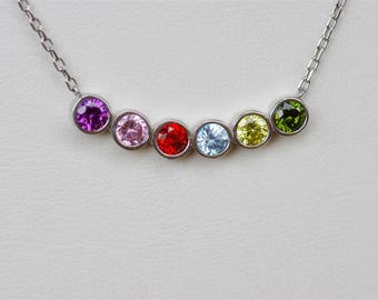 Mothers Birthstone Necklace, Mothers Necklace, Necklace For Grandma, Family Birthstone Necklace, Mothers Jewelry, Gift For Mom, Mom Necklace